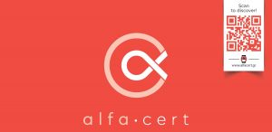 alfa cert sticker